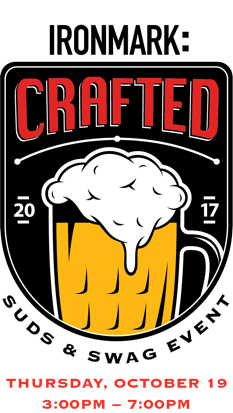 Ironmark Crafted Suds & Swag badge with date